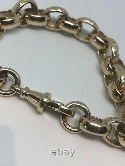 9ct Gold Hallmarked Chunky 7.5 Inch Length Belcher Bracelet