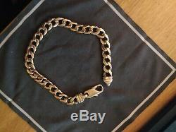 9ct Gold Mens Bracelet, 31g, 9.5 Long