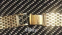 9ct Gold Mens Watch Bracelet (33g, fits Omega/Rolex)