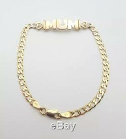 9ct Gold Mum Bracelet 4.5 Grams 7 Length Hallmarked Great Gift Idea
