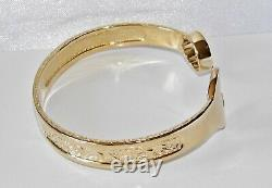 9ct Gold On Silver Men's Heavy Spanner Bangle