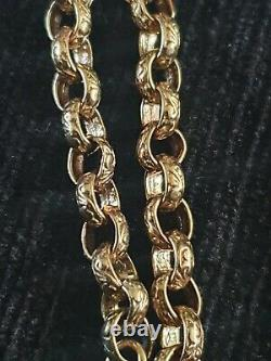 9ct Gold Oval Belcher Bracelet 13.8g 6