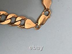 9ct Gold Solid Curb Bracelet 15g Not Scrap