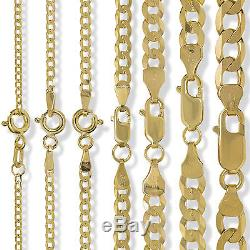 9ct Gold Solid Diamond Cut Flat Curb Chain Rope Figaro D/c Necklace Bracelet Box