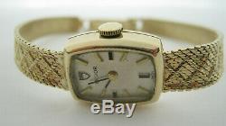9ct Gold Tudor Rolex Ladies Watch H/Mkd London 1972 with Integral Bracelet