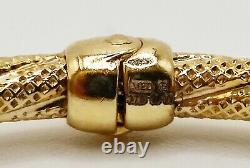 9ct Gold fancy textured bangle hoop bracelet ladies hallmarked sparkle effect