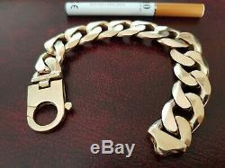 9ct Gold heavy Curb bracelet mens/gents 140g