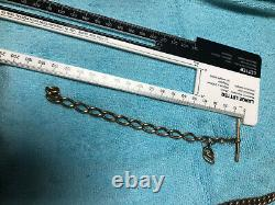 9ct Gold watch chain and bits 32 grams