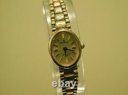 9ct Heavy Tri-Gold Sovereign Ladies Bracelet watch, Stunning 14.6g