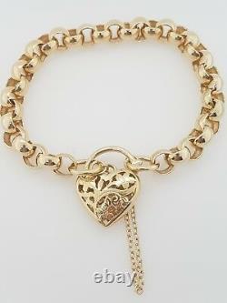 9ct Ladies Bracelet Yellow Gold solid link belcher bracelet Preloved RRP $2540