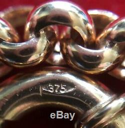 9ct Rose Gold Belcher Bracelet 7g