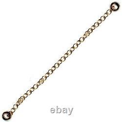 9ct Rose Gold Necklace Necklet Extender Bracelet Safety Chain 2 Jump Rings- FS27