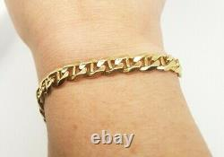 9ct Solid Gold Bracelet 21 cm Yellow Gold Anchor Link Preloved RRP $1890