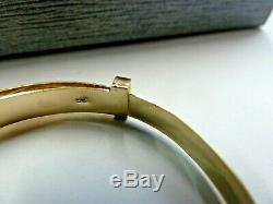 9ct Solid Gold Child's/Baby 5mm Wide Expanding Patterned Bangle 2.5 grams