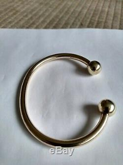 9ct Solid Gold Mens/womens Torque Bangle 21.66 Grams In Excellent Condition