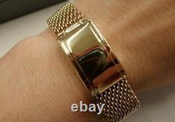 9ct Solid Gold Watch Bracelet Strap 38 grams Vintage 1951