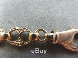 9ct Solid Yellow Gold Fancy Marine/Button/Sunday Albert 7 /3 Bracelet 26 grams