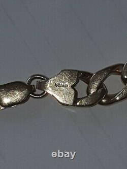 9ct Solid gold Curb Bracelet Fully Hallmarked 26 grammes