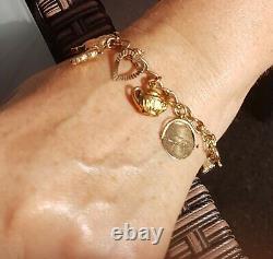 9ct Vintage Gold Charm Bracelet 21gms
