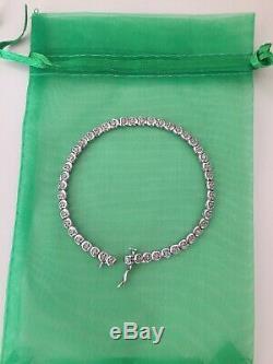 9ct White Gold Diamond Bracelet Ernest Jones