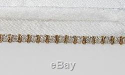 9ct Yellow Gold 0.25ct Diamond Ladies Tennis Bracelet