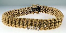 9ct Yellow Gold 7 Fancy Woven Link Bracelet (10mm wide)