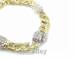 9ct Yellow Gold Baby Children Boxing Glove Cubic Zirconia Bracelet 5.5