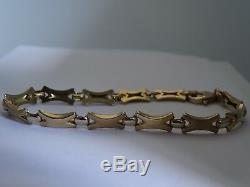 9ct Yellow Gold Bracelet Modern Design Authentic Retro