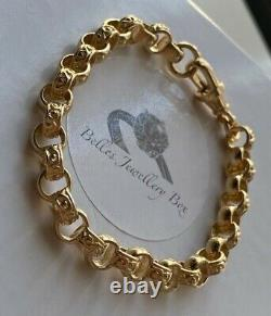 9ct Yellow Gold Childrens Plain Pattern Belcher Bracelet 6.5 Inch Hallmarked New