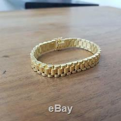 9ct Yellow Gold Fancy Bracelet 30.8g