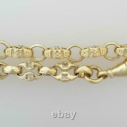 9ct Yellow Gold Smaller Stars And Bars Bracelet 6.5 19.41g