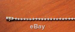 9ct Yellow Gold Tennis Bracelet with 1ct Diamonds