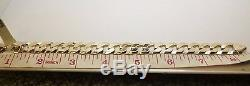 9ct Yellow Gold solid Flat Curb Bracelet 8 1/2 Inches long with trigger clasp