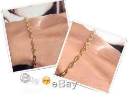 9ct Yellow Solid Gold Medium Heavy Marine Bracelet + Box + Gift