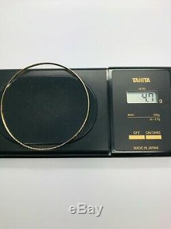 9ct Yellow Solid Gold Slave Bangle 3.0mm CHEAPEST ON EBAY