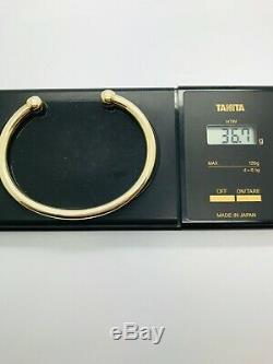 9ct Yellow Solid Gold Torque Bangle
