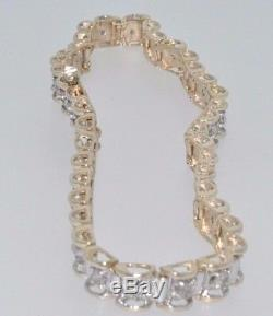 9ct gold 1ct claw set diamond line bracelet