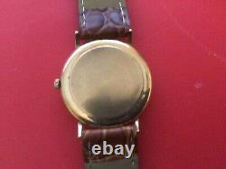 9ct gold Geneve Mens Swiss Watch Quartz Movement