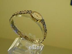 9ct gold Vintage Accurist Bracelet Watch-Superb! 16.2GHeavy, Diamond set