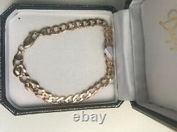 9ct gold bracelet 8 inch little used