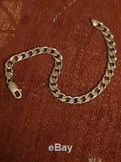 9ct gold bracelets mens 16.2 grams