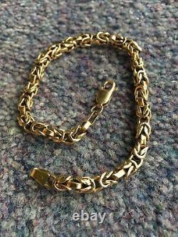 9ct gold byzantine bracelet