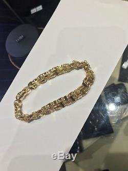 9ct gold cage style bracelet hip hop fashion
