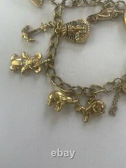 9ct gold charm bracelet with 13 charms And 20grams New