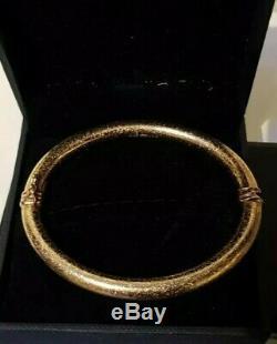 9ct gold crackle pattern bangle bracelet 10.5g, brand new never worn, not scrap