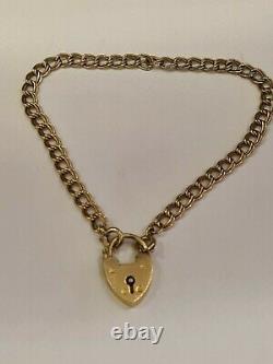 9ct gold double curb charm bracelet