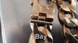 9ct gold heavy curb Bracelet 90.3 Grams not scrap 9.5 inches in length