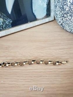 9ct gold mens belchor bracelet