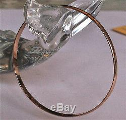 9ct solid half round rose gold bangle