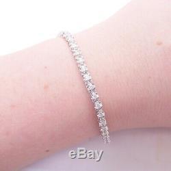 9ct white gold 2ct diamond line bracelet